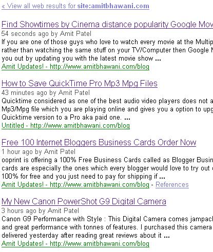 google blog. Google Blog Search Stats