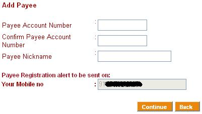 ICICI Bank Add New payee