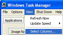 Select Columns Task Manager