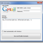 How to set autoreply status on Google talk / Gtalk