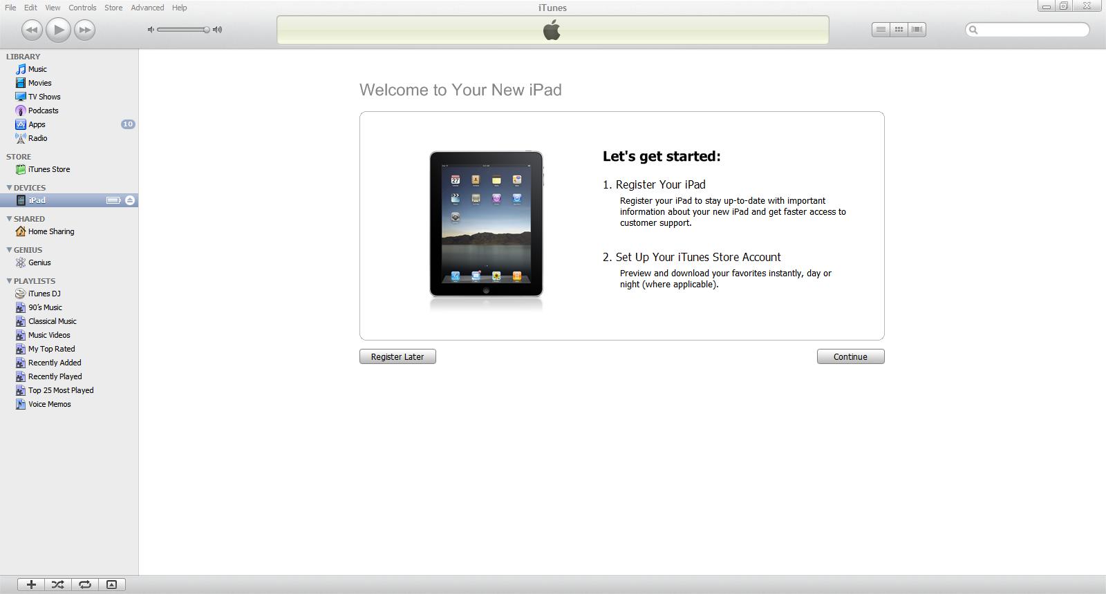 register  apple