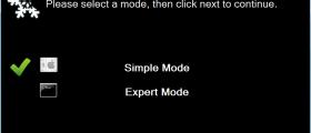Select Setup Mode