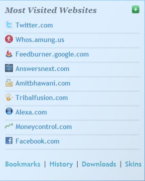 Most Visited Websites Epic Browser