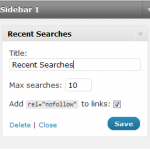 Display Recent Searches on Sidebar for Better Ranking in Search Engines