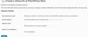 Wordpress Mu Network Site