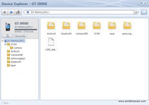 Device Explorer GT i9000 Samsung