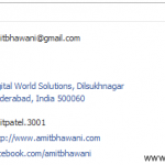 Hide Email Address on FaceBook Profile Contact Information