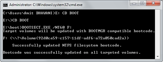 CMD Create Boot Drive USB