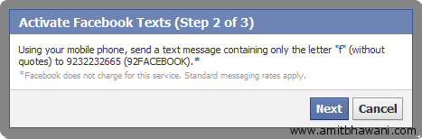 Send Text Message Facebook