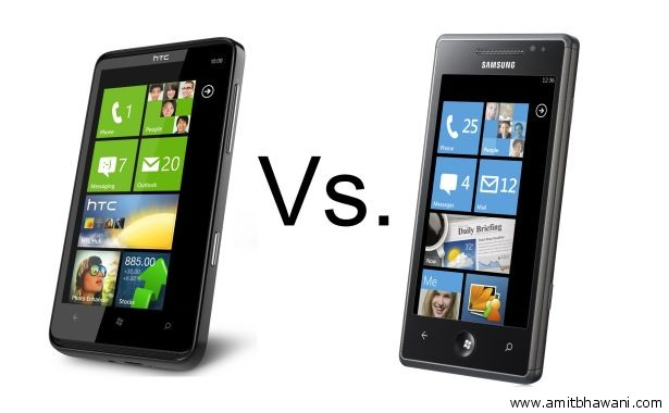 htc hd7 vs samsung omnia 7