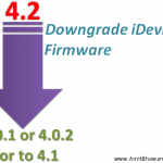 Downgrade Apple iOS 4.2.1 to 4.0.1/4.0.2/4.1 firmware