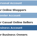PayPal Account Types – Personal Premier & Business