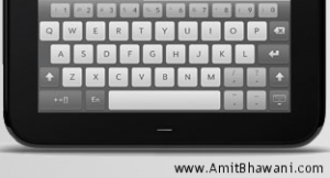 HP TouchPad Keypad