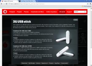 Vodafone 3G USB Sticks