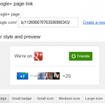 Create Google+ Pages Badge for your Website & Blogs