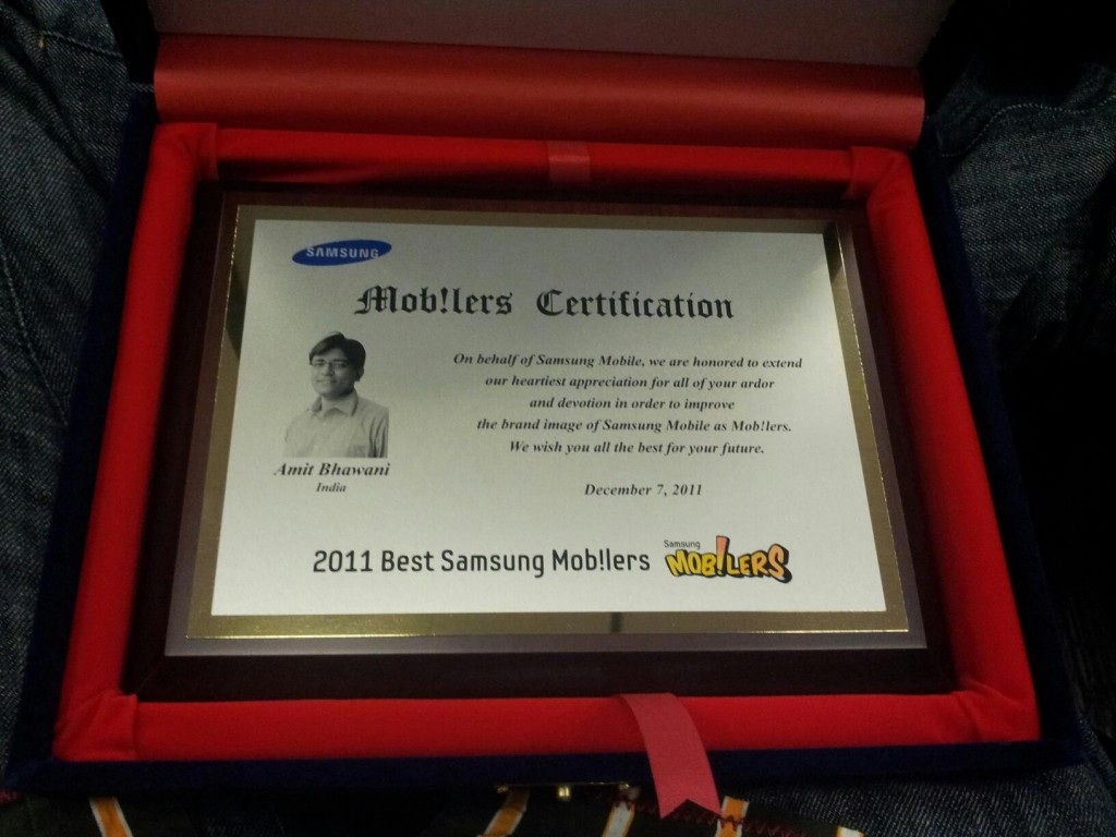 Samsung Mob!lers Award Seoul Korea