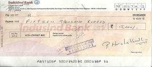 Harshavardhan Reddy Pidathala Bounced Check