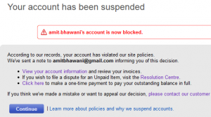 WTF @EbayIndia Account Suspended for Writing a Positive Blog Post for their Service