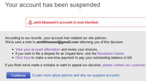Ebay India Account Suspended