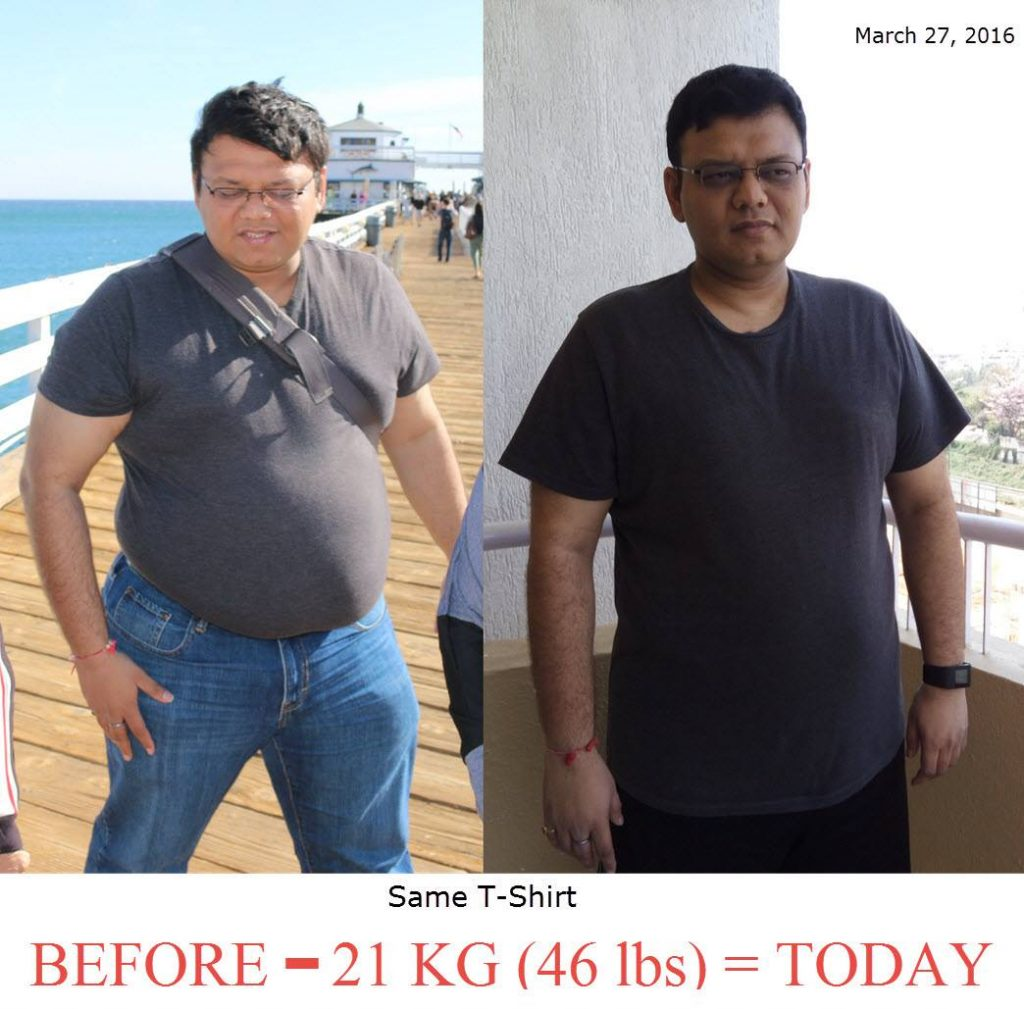 Pinal Dave Weight Loss Comparison